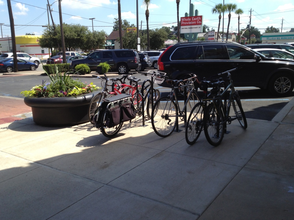 Bike Racks in front of the new Trader Joes